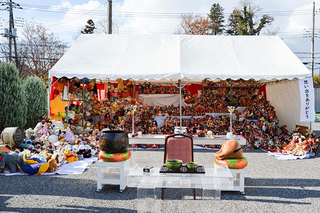 宇都宮河内ホール駐車場にて『人形供養祭』を開催いたしました